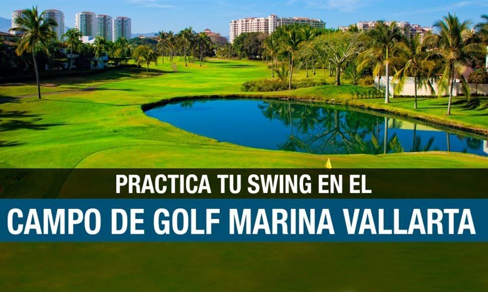 Practica tu swing en el Campo de Golf Marina Vallarta