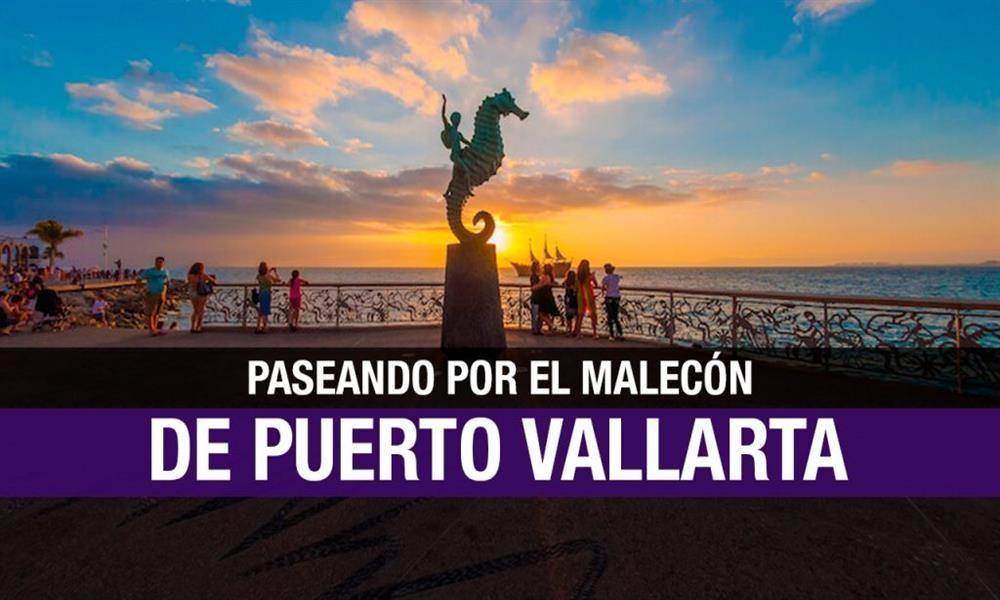 Paseando por el maravilloso malecón de Puerto Vallarta