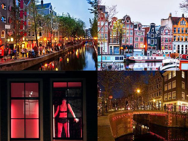 Recorriendo el Barrio Rojo de Ámsterdam