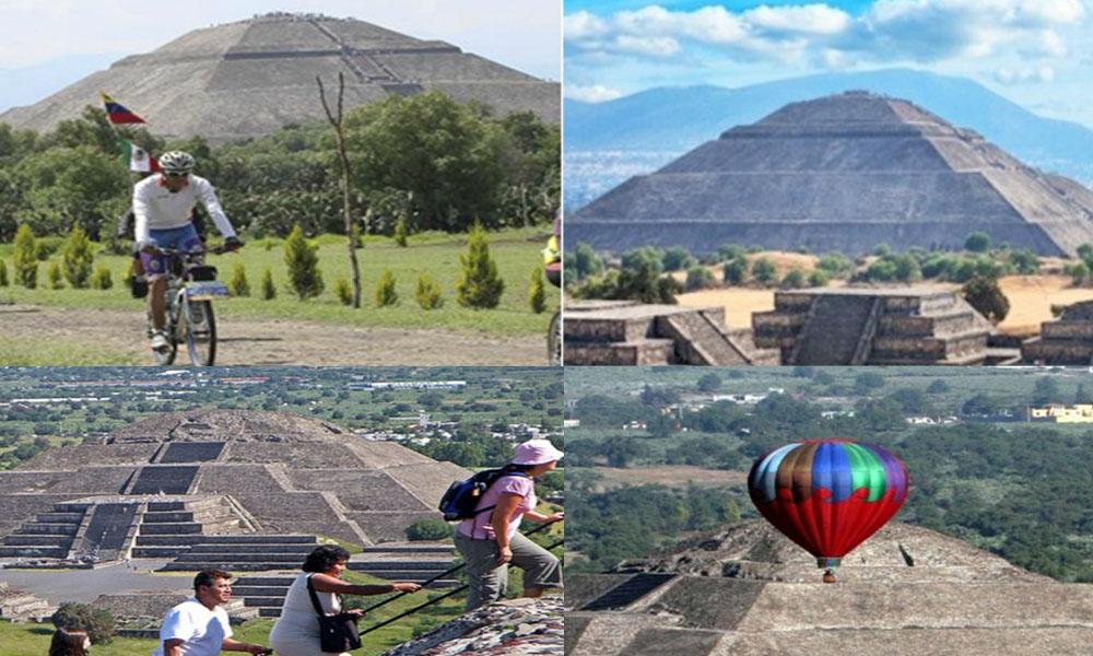 Teotihuacán: debes recorrerla en la bicicleta, a globo y a pie
