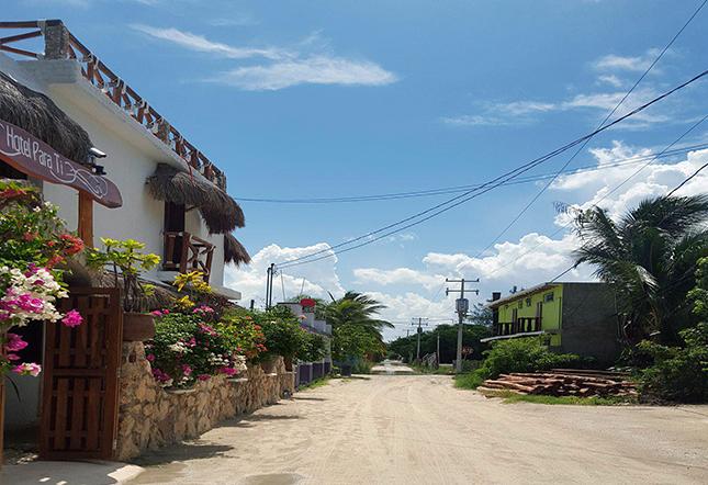 calles centro isla holbox