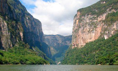 Vista del impresionante Cañón del Sumidero en Chiapas