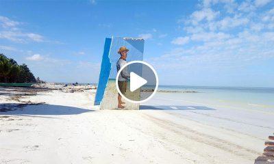 Murales en la isla de Holbox playa