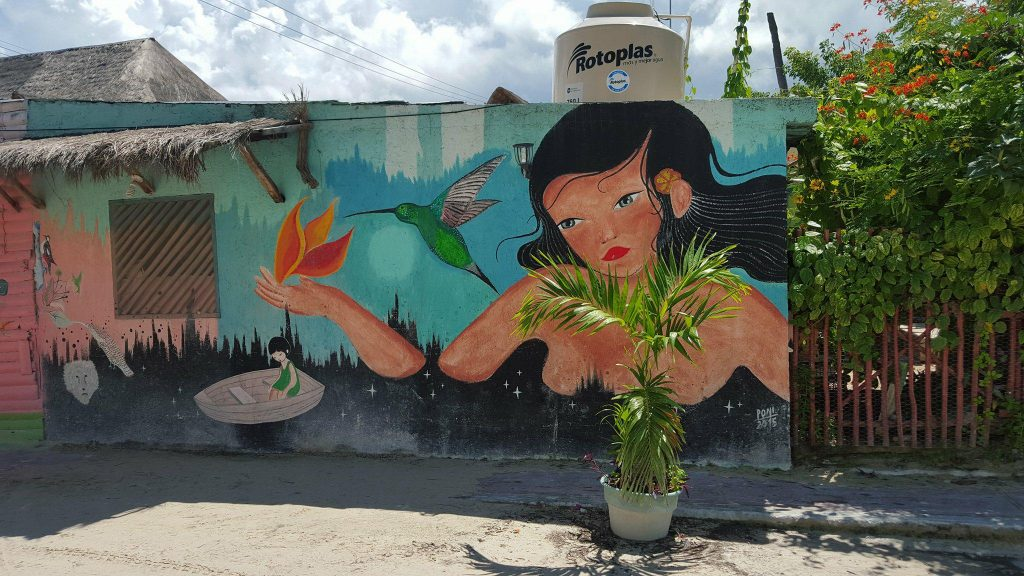murales de las calles de isla holbox