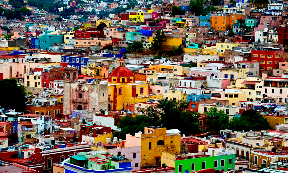 vista panorámica de la ciudad de guanajuato