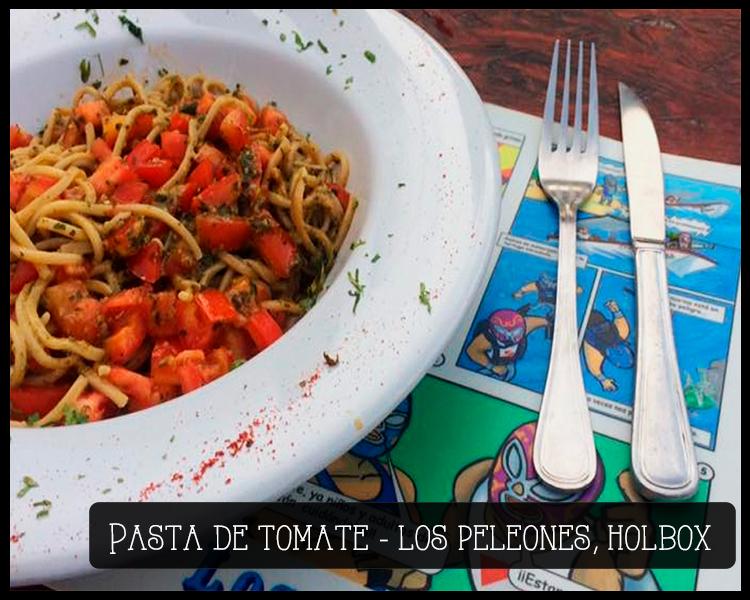 restaurante peleones pasta tomate isla holbox