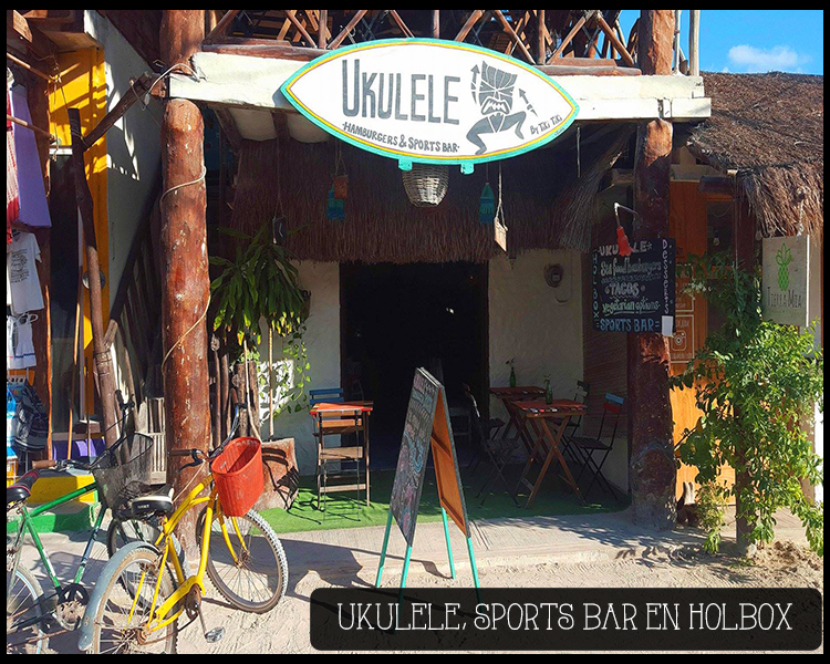 Ukulele sports bar hamburguesas en isla holbox