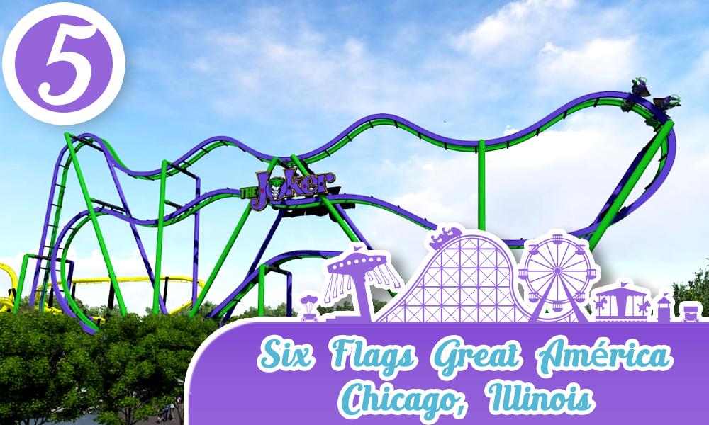 Mejores Parques de Diversiones de Estados Unidos Six Flags Great America