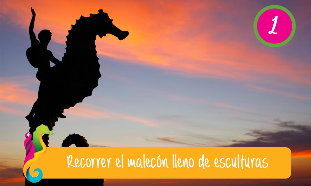 Qué hacer, qué ver y qué visitar en Puerto Vallarta estatua caballito de mar