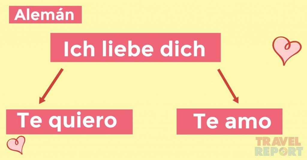 cómo se dice te amo en alemán