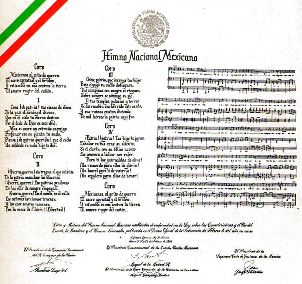 Carta Himno Nacional