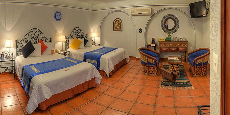 cuarto habitacion hotel parador san miguelhospedaje oaxaca hoteles