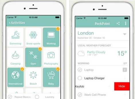 7 apps para organizar con éxito tu viaje Pack Point