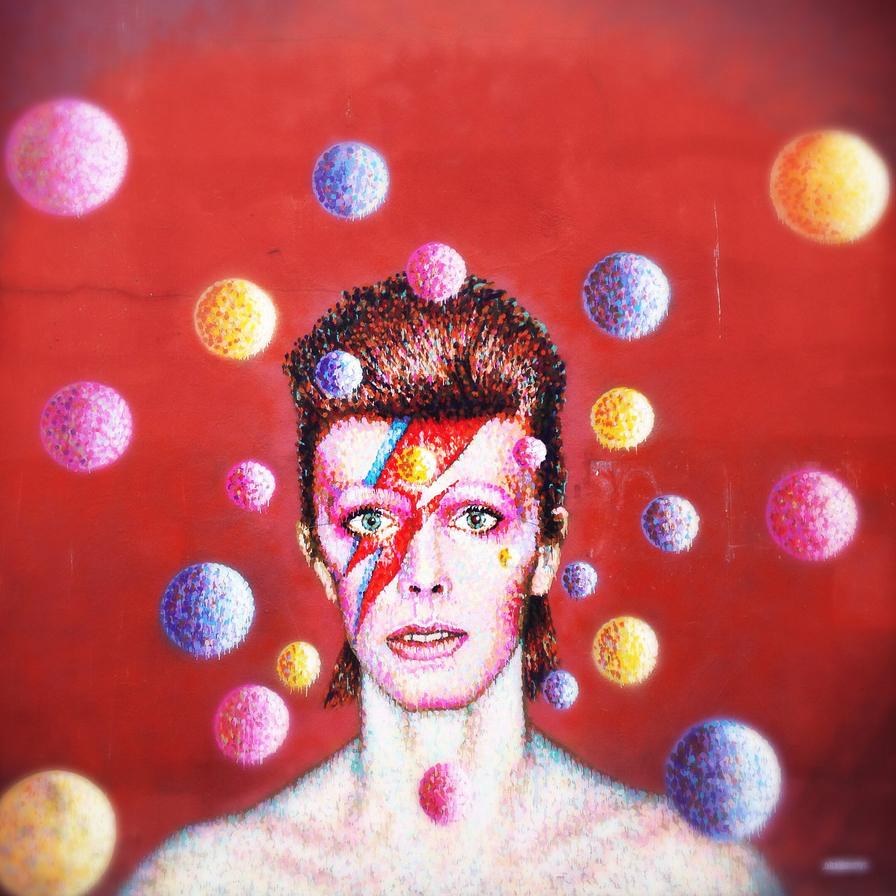 El Londres de David Bowie mural