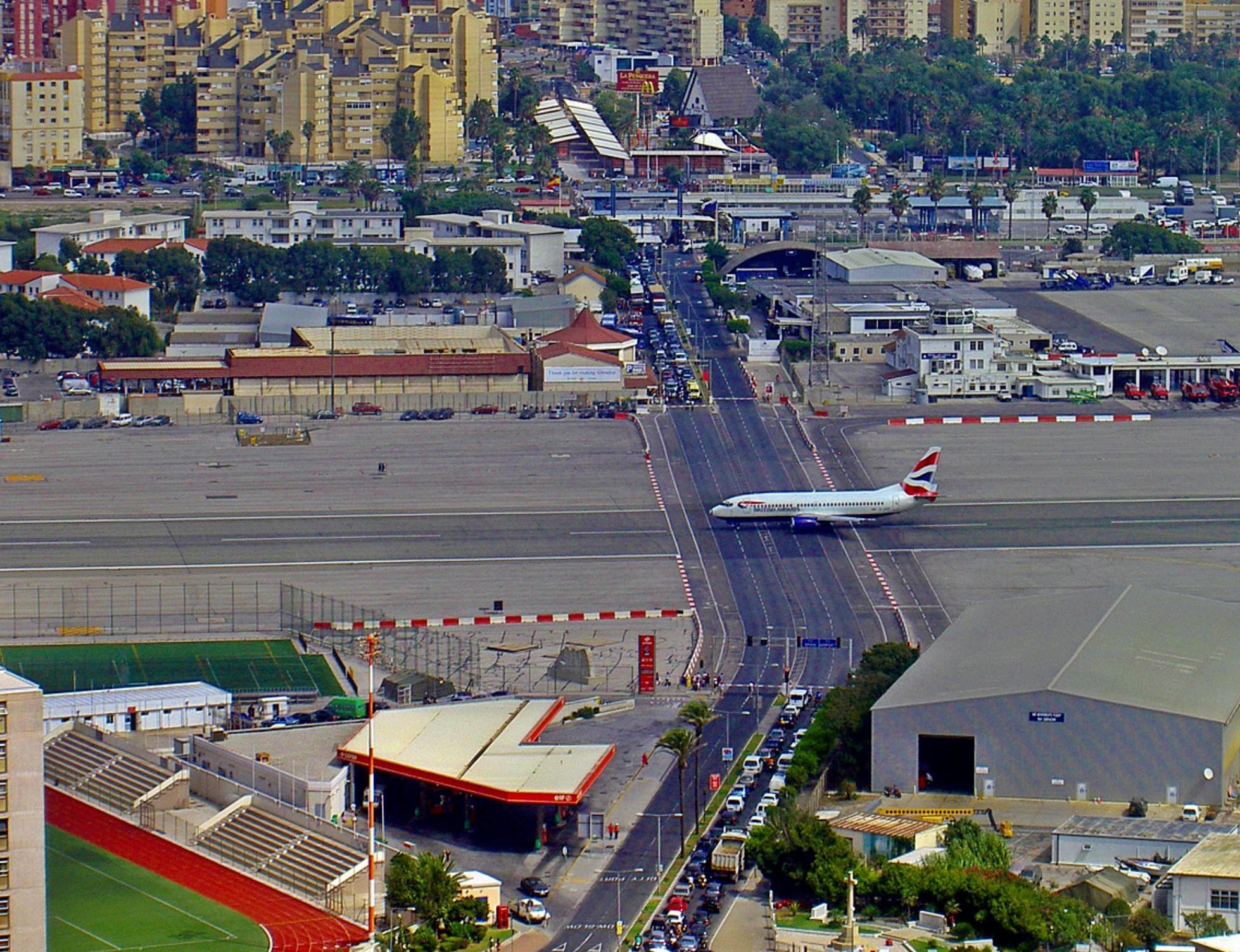 Los aeropuertos más espectaculares del mundo Gibraltar