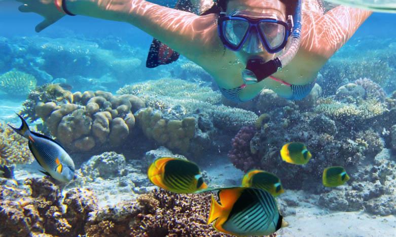 snorkel en Playa Linda