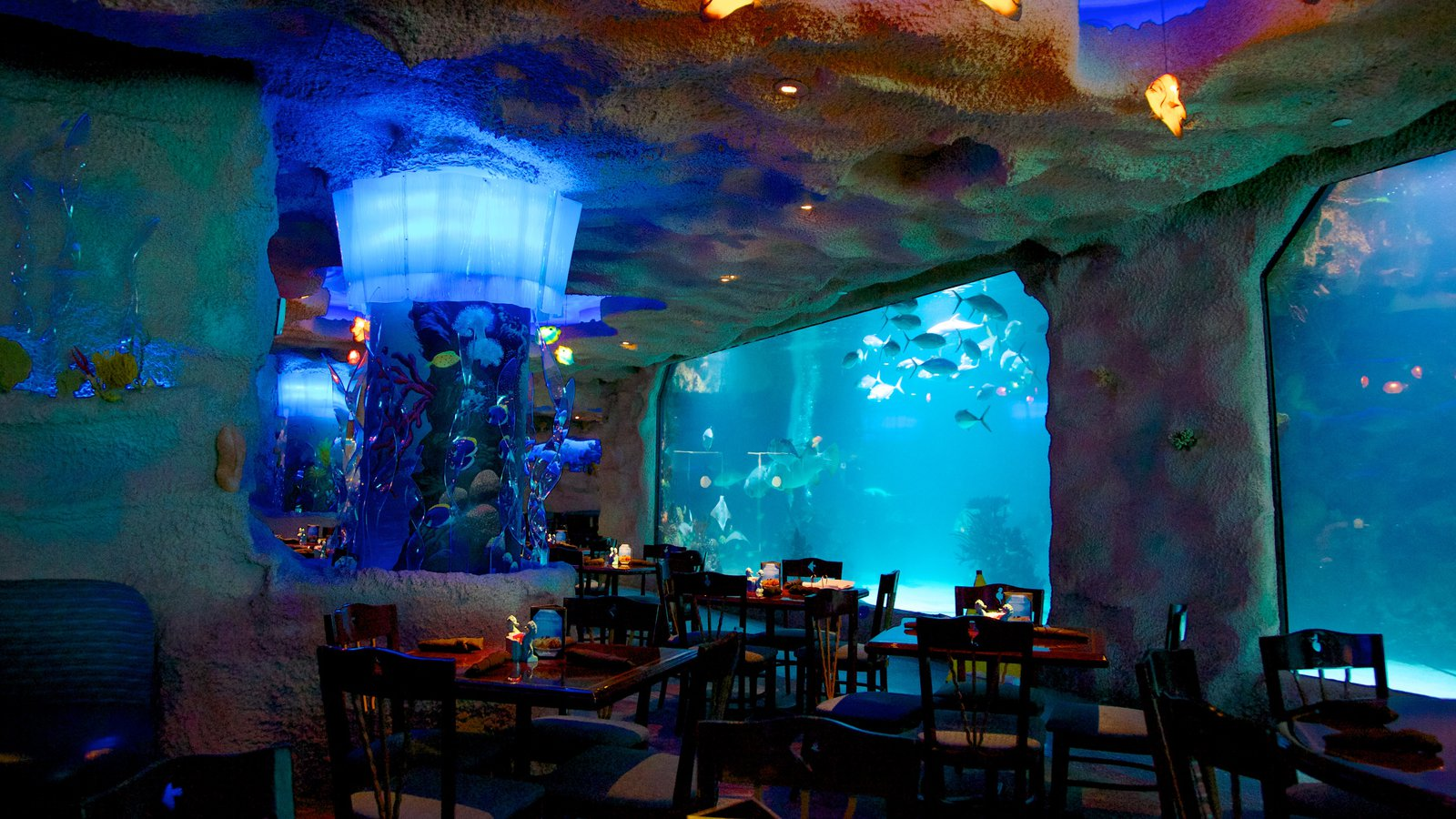 donde comer en Houston Downtown-Aquarium