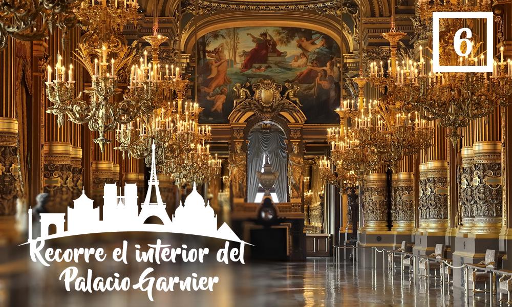 Recorre el interior del Palacio Garnier-Qué hacer en París en una segunda visita