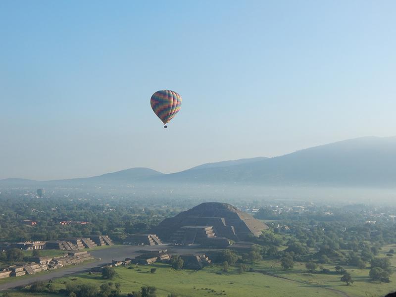 Cuánto cuesta volar en globo en Teotihuacán