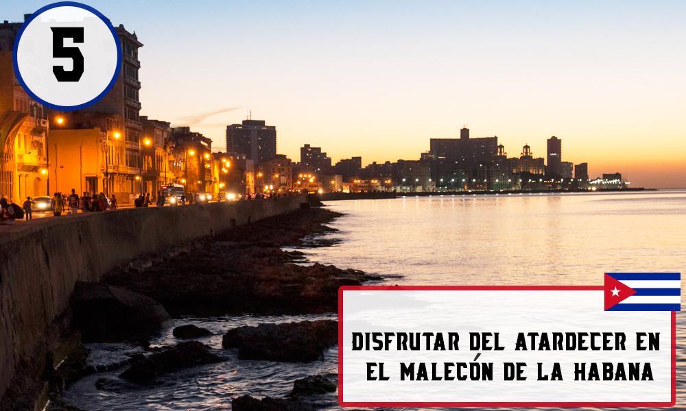 Qué hacer en La Habana, Cuba -#5 Disfrutar del atardecer en el malecón de La Habana