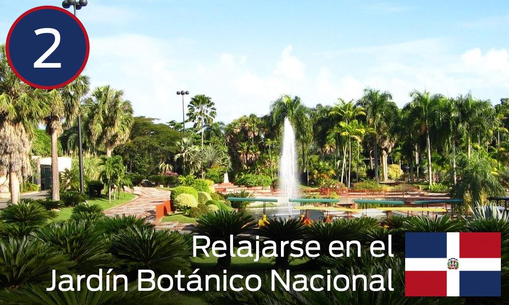 Relajarse en el Jardín Botánico Nacional