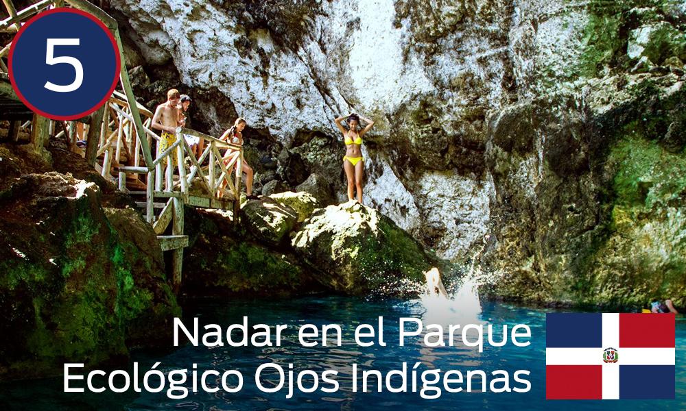 Nadar en el Parque Ecológico Ojos Indígenas
