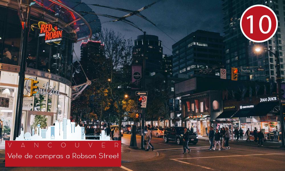 Qué hacer en Vancouver - #10 Vete de compras a Robson Street