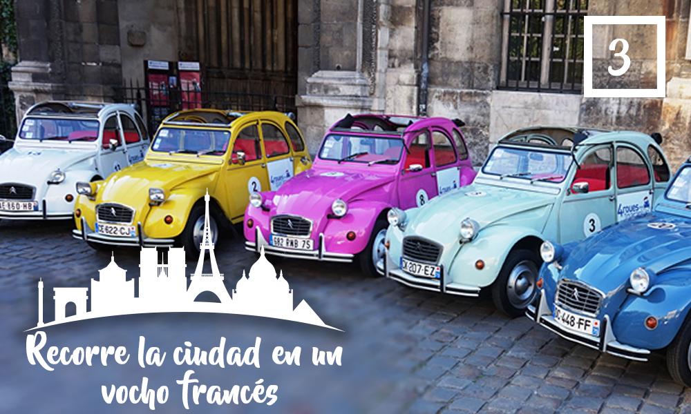Recorre la ciudad en un vocho francés-Qué hacer en París en una segunda visita