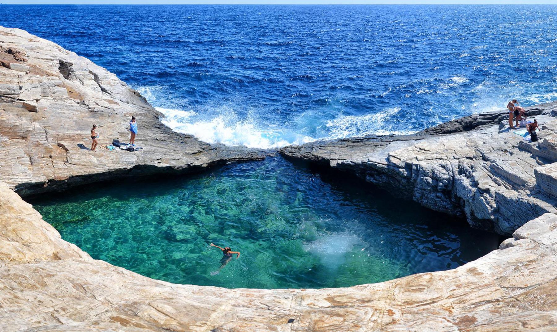 las piscinas naturales más increíbles del mundo Giola, Grecia