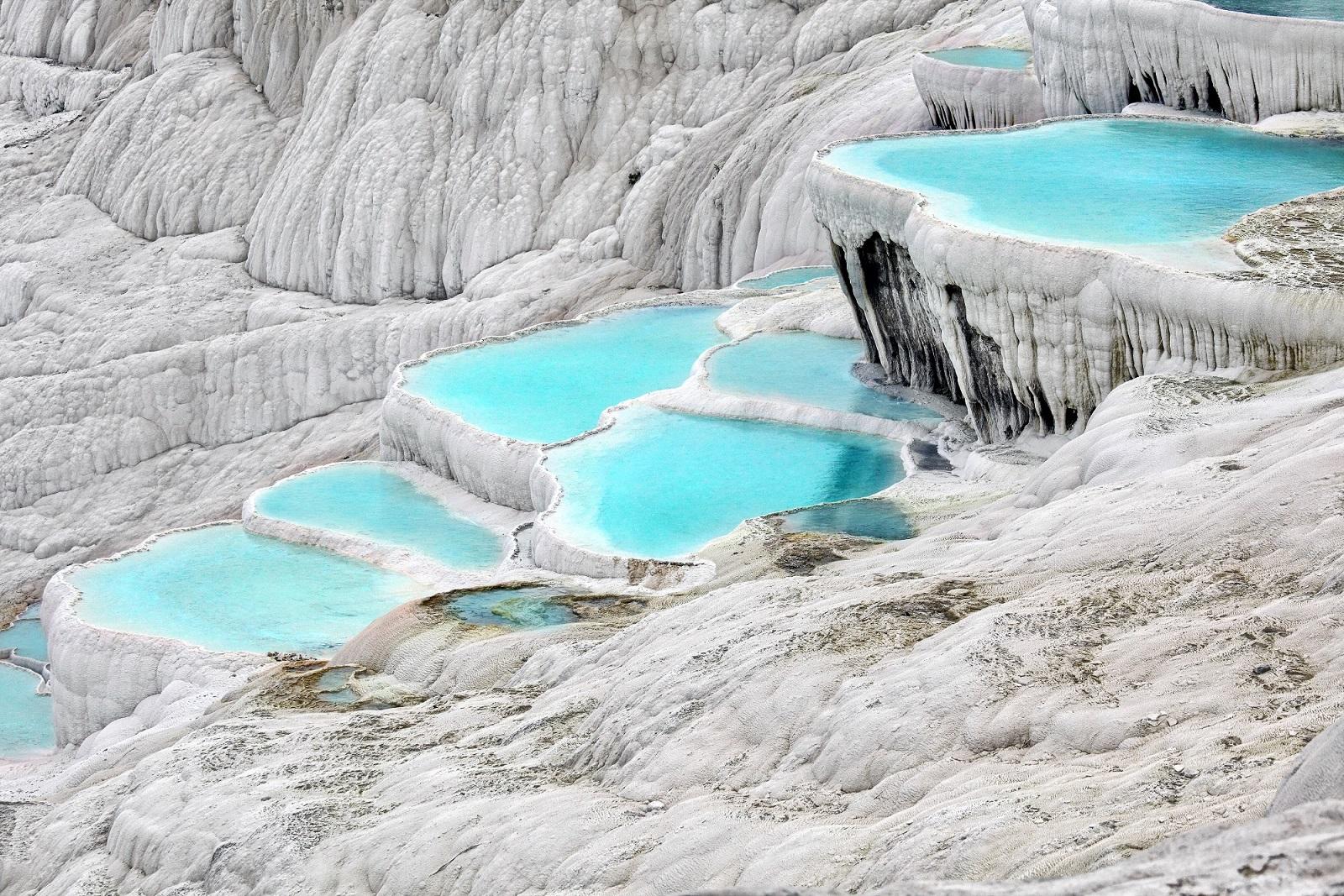 las piscinas naturales más increíbles del mundo Pamukkale, Turquía