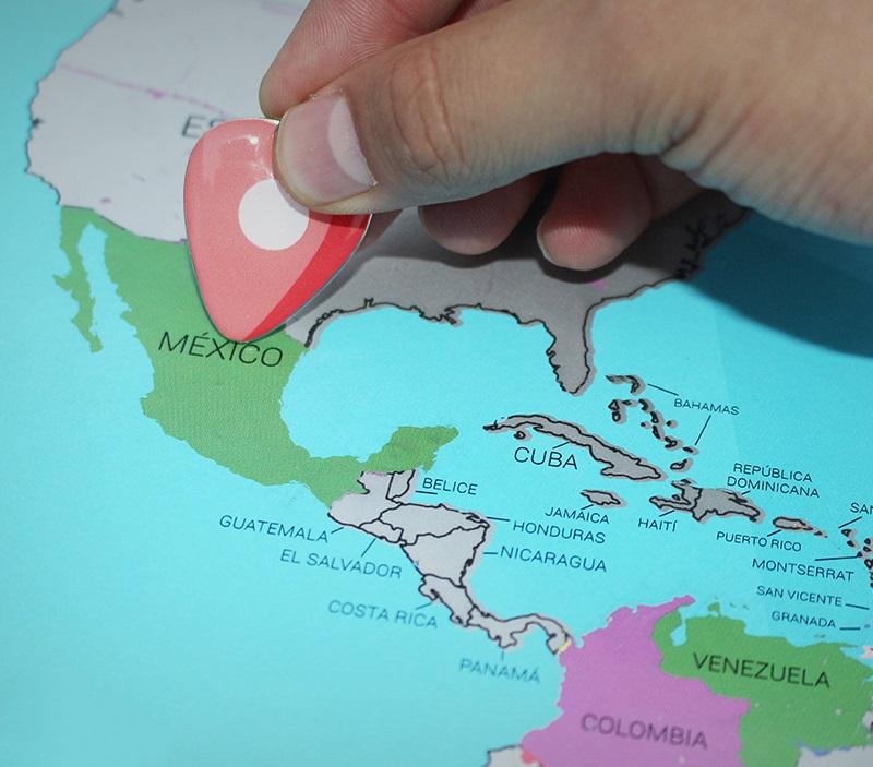 El mapa de México ahora es rascable