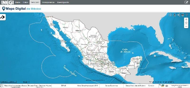 El mapa del INEGI