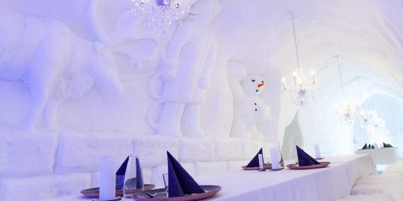 Restaurantes de hielo para cenar en Navidad