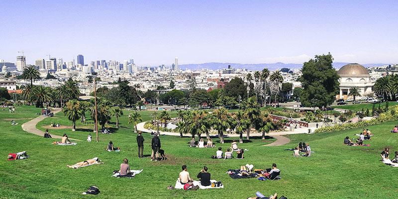 que hacer gratis en San Francisco - Mission Dolores Park
