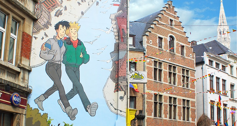 tour del cómic en Bruselas