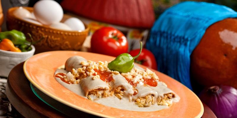 Los papadzules son de los platos de la comida típica de Quintana Roo.