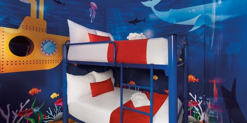 Las 11 suites Deluxe Family Kids tienen un espacio temático para los niños.