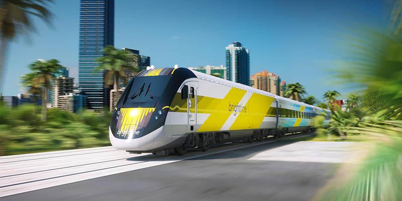 El tren que te lleva de Miami a The Palm Beaches