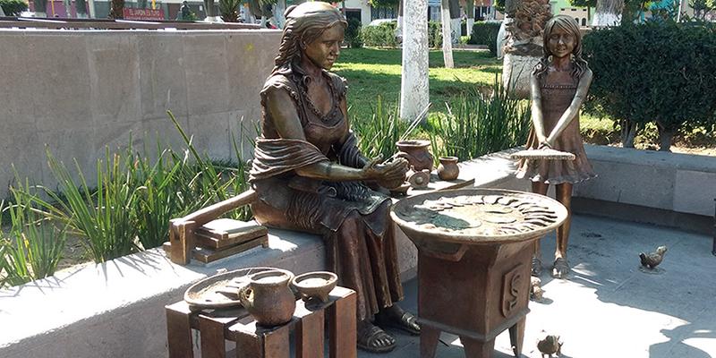 Monumento a la creadora de las enchiladas potosinas