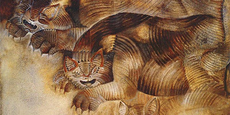 """Una muestra de su obra """"Gatos"""""""