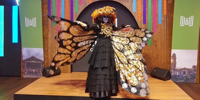 La catrina monarca, mezcla de dos símbolos de Michoacán