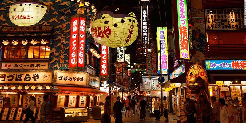 Aquí hay mucho que ver en Osaka y comprar