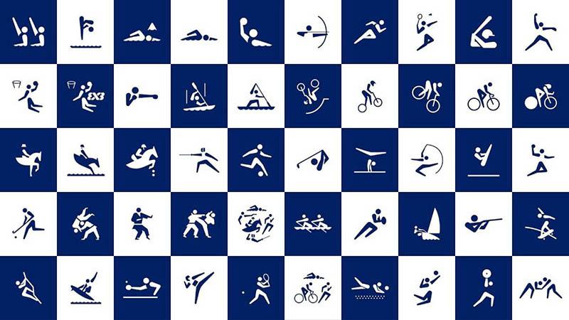 Pictogramas de los deporte de Tokio 2020