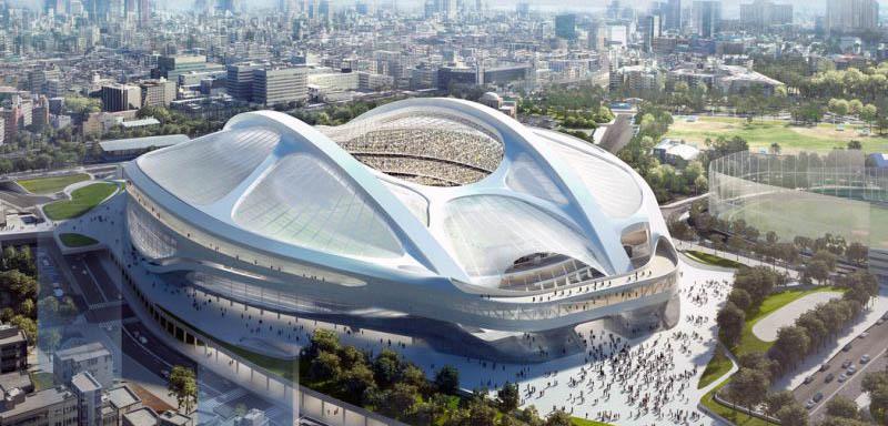 Prototipo del estadio olímpico de Tokio 2020