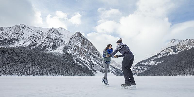 Patinaje sobre hielo Lake Louise