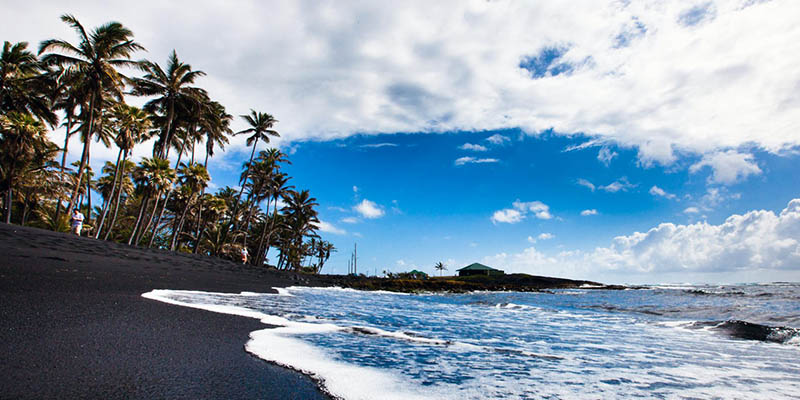 La playa de Punaluu