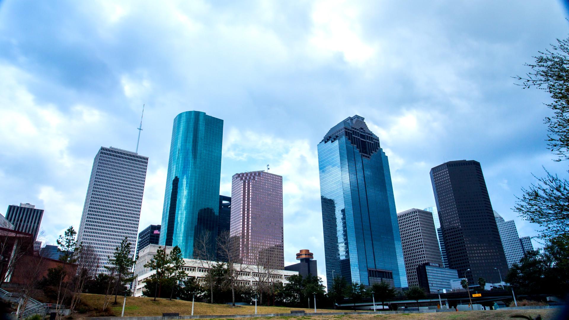 Downtown Skyline from Sam Houston Park 1