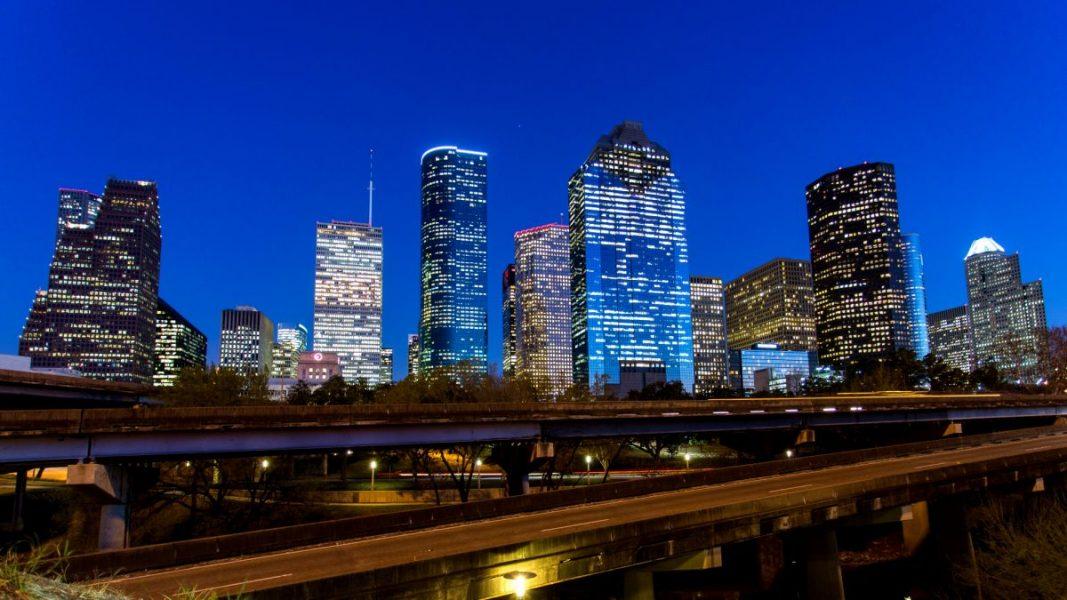 Downtown Skyline Night 1