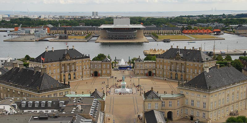 Los cuatro palacios de Amalienborg