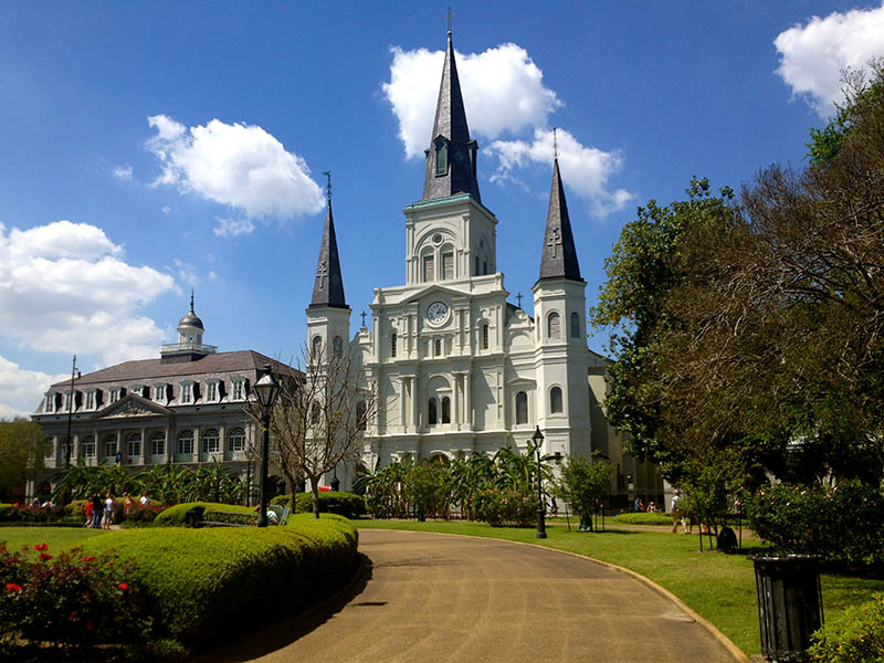 La bella catedral de la ciudad